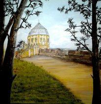 Burg, Acrylmalerei, Weg, Festung