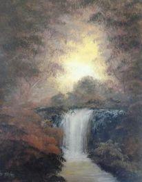 Weg, Wasserfall, Gefühl, Idylle