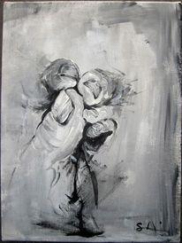 Daumen, Schwarz weiß, Hände, Malerei