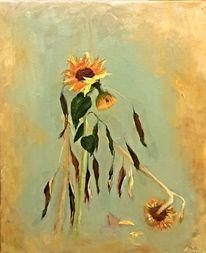 Blumen, Herbst, Sonnenblumen, Pflanzen
