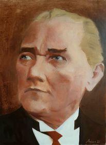 Figurativ, Mann, Portrait, Atatürk