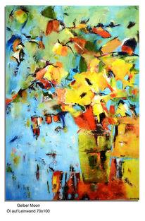 Ölmalerei, Natur, Abstrakt, Blumen
