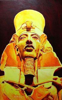 Echnaton, Achenaton, Amenhotep iv, Malerei
