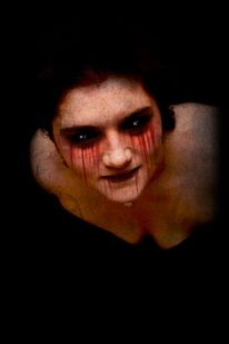 Blut, Digital, Frau, Gesicht