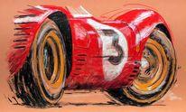 Auto, Zeichnung, Oldtimerkunst, Oldtimer