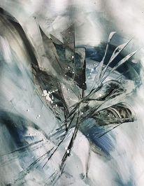 Abstrakt, Blumen, Pflanzen, Malerei