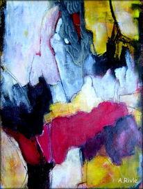 Fantasie, Abstrakt, Malerei, Mischtechnik