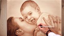 Porträtmalerei, Muttertag, Portrait, Portrait vom foto