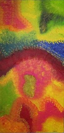 Strukturpaste, Big bang, Abstrakt, Acrylmalerei