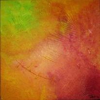 Strukturpaste, Engel, Malerei, Abstrakt