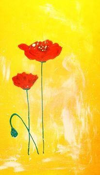 Malerei, Fantasie, Blumen, Pflanzen