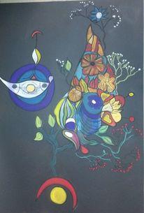 Bunt, Blüte, Fantasie, Blumen