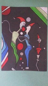 Abstrakt, Fantasie, Bunt, Weggefährte