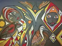 Abstrakt, Vogel, Kopf, Fantasie