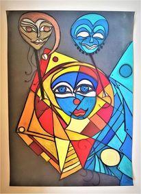 Maske, Rund, Kopf, Abstrakt