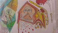 Abstrakt, Bunt, Gesicht, Kopf
