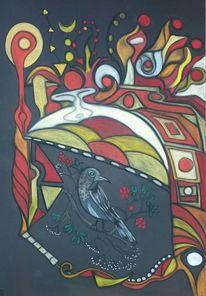 Bunt, Vogel, Fantasie, Abstrakt