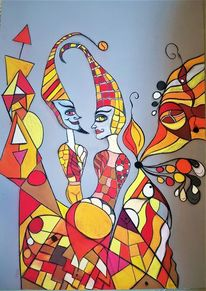 Figur, Fantasie, Abstrakt, Begegnung