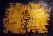 Hell, Ölmalerei, Gelb, Malerei