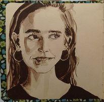 Kreide, Art graf, Portrait, Zeichnungen