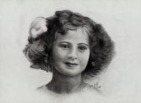 Zeichnung, Curie, Sklodowska, Bleistiftzeichnung