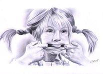 Zeichnung, Pippi langstrumpf, Zeichnungen