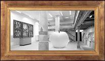 Fotomontage, Apfel, Museum, Digitale kunst
