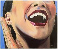 Lächeln, Frau, Figural, Portrait