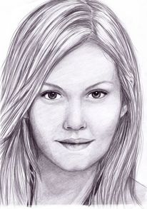 Frau, Zeichung, Bleistiftzeichnung, Zeichnungen