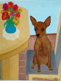Ölmalerei, Malerei, Terrier
