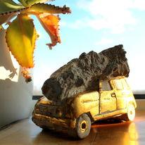 Fossilien, Versteinerung, Renault, Oldtimer