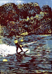 Wassersport, Schwimmweste, Wasser, Boje