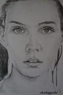 Zeichnung gntm, Portrait, Zeichnungen, 2014