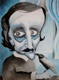 Edgar allan poe, Rabe, Zeichnung, Vogel
