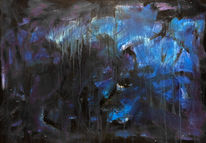 Depression, Acrylmalerei, Zeichnung, Licht