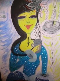 Träumereien, Frau, Dame, Malerei