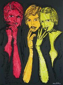 Abstrakt, Rot schwarz, Frau, Emanzipation