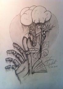Bleistiftzeichnung, Sehnsucht, Surreal, Zeichnung