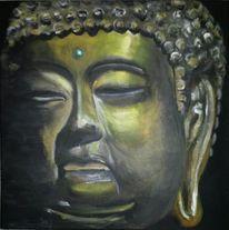Acrylmalerei, Gesicht, Malerei, Buddha