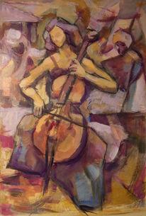 Park, Musik, Frau, Cello