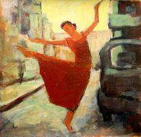 Gegenlicht, Straße, Tanz freude, Rot
