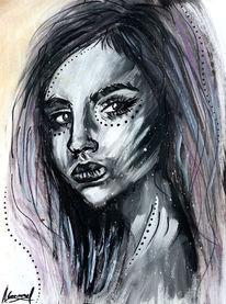 Schwarz, Acrylmalerei, Sketch1, Surreal