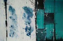 Mischtechnik, Acrylmalerei, Bleistiftzeichnung, Malerei