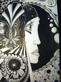 Weiß, Zeichnung, Formen, Frau