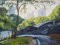 New york, Blätter, Baum, Stadt