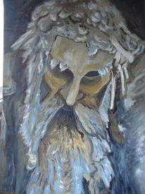 Stein, Figur, Portrait, Malerei
