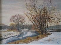 Baum, Fluss, Landschaft, Main