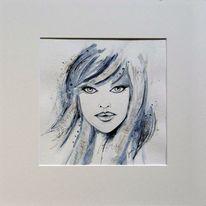 Aquarellmalerei, Gesicht, Portrait, Geschenk
