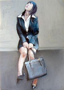 Frau, Handtasche, Japanerin, Fotorealismus