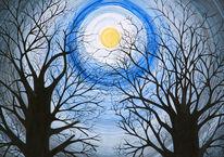 Natur, Malerei, Mond